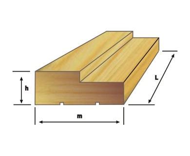Деревянная дверная коробка Вельского леса в разрезе